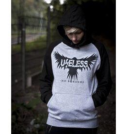 Useless No Borders Crow - Unisex College Hoodie