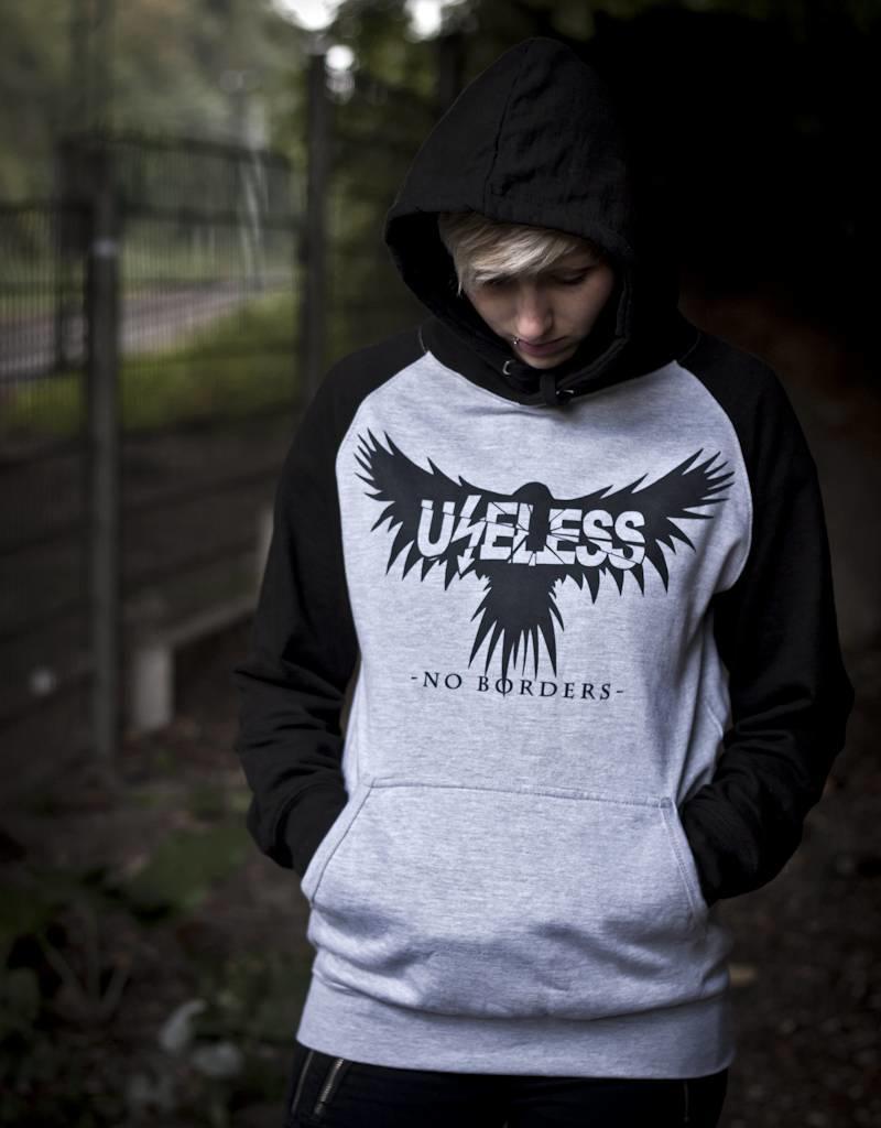 Useless No Borders Crow - Hoodie