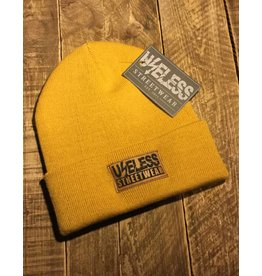 Useless Streetwear - Beanie, mustard mit vegan Patch