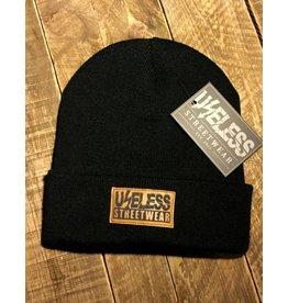 Useless Streetwear - Beanie, schwarz mit vegan Patch