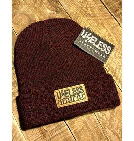 Useless Streetwear - Beanie, burgundy mit vegan Patch