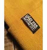 Useless Streetwar Beanie - gewebtes Label, mustard
