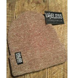 Useless Streetwear Beanie - gewebtes Label, oatmeal