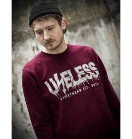 Useless Crisis - Unisex Sweatshirt, burgundy