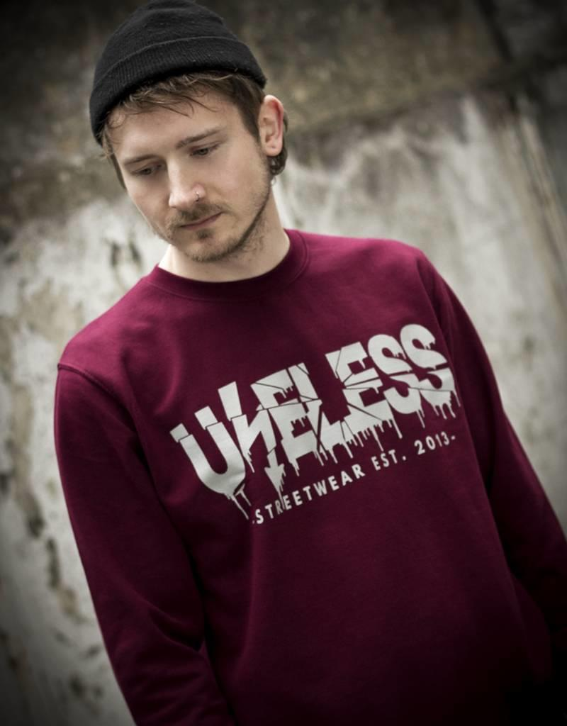 Useless Crisis - Sweatshirt, burgundy