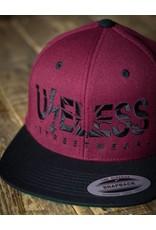 Useless Useless Snapback Cap, maroon