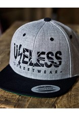 Useless Useless Snapback Cap, grau/schwarz