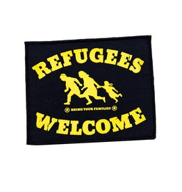 Refugees Welcome - gelber Patch