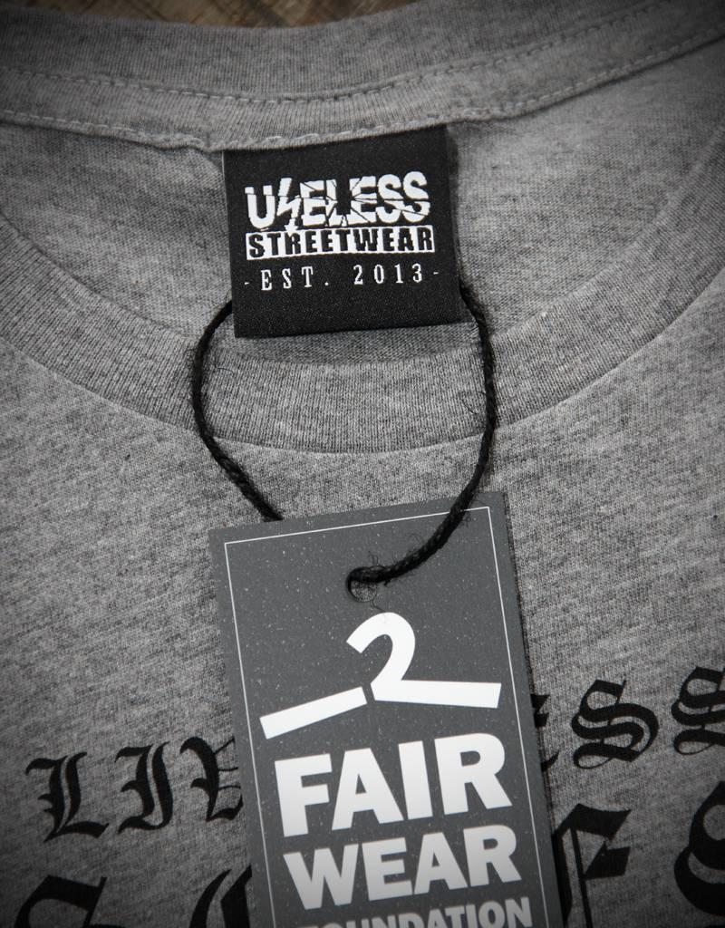 Useless Live less useless - Girl Shirt grau