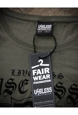 Useless Live Less Useless - Girl Shirt oliv - Fair Wear