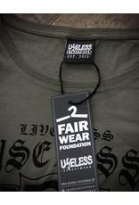 Useless Live less useless - Girl Shirt oliv