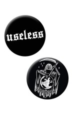 Useless Endzeit Button Set - groß 32mm