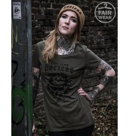 Useless Live Less Useless - Girl Shirt oliv - Fair Wear