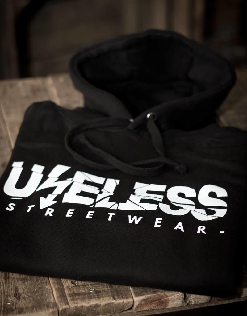 Useless Useless Streetwear Hoodie, schwarz