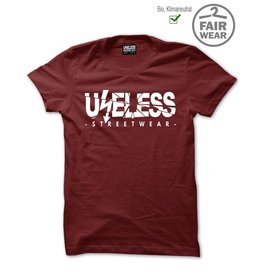 Useless Logo - Unisex T-Shirt maroon, Bio & fair
