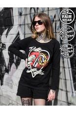 Useless Keep The Fire Burning Inside - Girl Sweater, Fair & Bio
