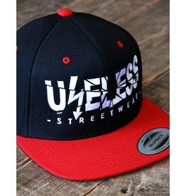 Useless Useless Snapback Cap, rot/schwarz