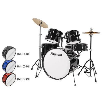 Hayman HM-100-BK  Hayman 5-delig drumstel zwart compleet!