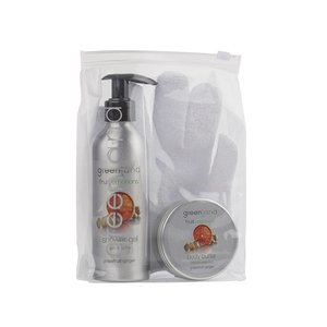 Fruit Emotions, giftset: scrub glove, shower gel 200 ml & body butter 100 ml, grapefruit - ginger
