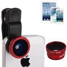 Universele 3 in 1 foto lens kit 180° Fisheye + Wide lens + Macro lens voor o.a. iPhone en Samsung