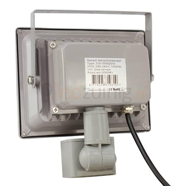 20 watt led bouwlamp met sensor 1650 lumen beste prijs. Black Bedroom Furniture Sets. Home Design Ideas