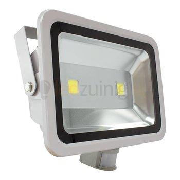 100 watt led bouwlamp met sensor 6500k 8250 lumen