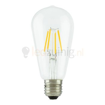 Retro led lamp - Echt glas - E27 -  Extra warm-wit - Druppelvorm