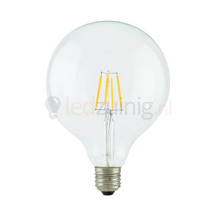 Led lamp van echt glas - Retro look - Met lichtdraden - Grote bol