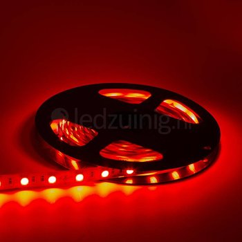 5 meter led strip - Rood - 60 leds per meter - IP20