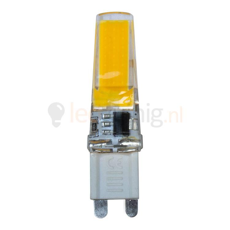 Dimbare 9 Watt G9 Led Lamp   2300K   550 Lumen   230 Volt