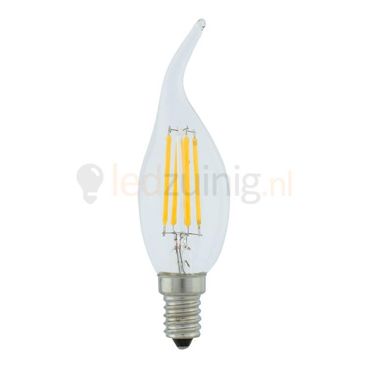 Vlam led lamp - Warm-wit - 2 of 4 watt - Retro look van echt glas!