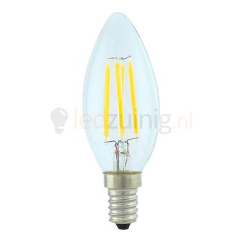 Retro dimbare led lamp - Echt glas - Warm-wit - Kaars