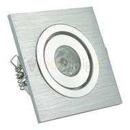 1 watt complete led inbouwspot - Warm-wit - Dimbaar & kantelbaar - 90 lumen