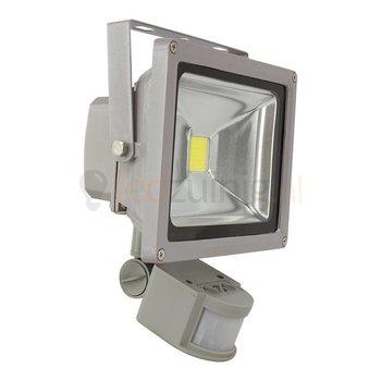 20 watt led bouwlamp met sensor - 2800K (warm-wit) - 1650 lumen