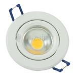 Witte GU10 inbouwspot (rond) met 3, 5, of 7 watt led lamp