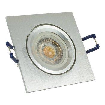 GU10 inbouwspot van geborsteld aluminium (vierkant) met 7 watt led lamp - 605 lumen