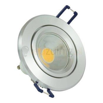Aluminium GU10 inbouwspot (rond) met 3, 5, of 7 watt led lamp