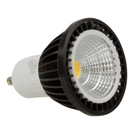 GU10 led spot - 5 watt warm-wit - 300 lumen (zwart)