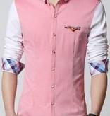 Shirt perzikkleurige volledige mouw