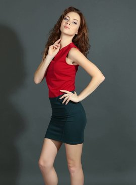 Red BaumwollSleeveless Kleid Casual Wear