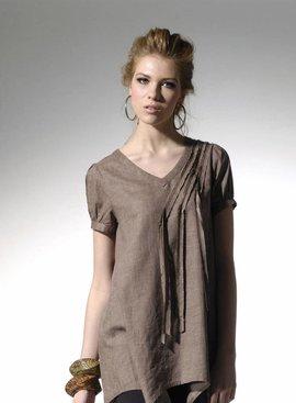 Sassy, loose fit dual tone jurk