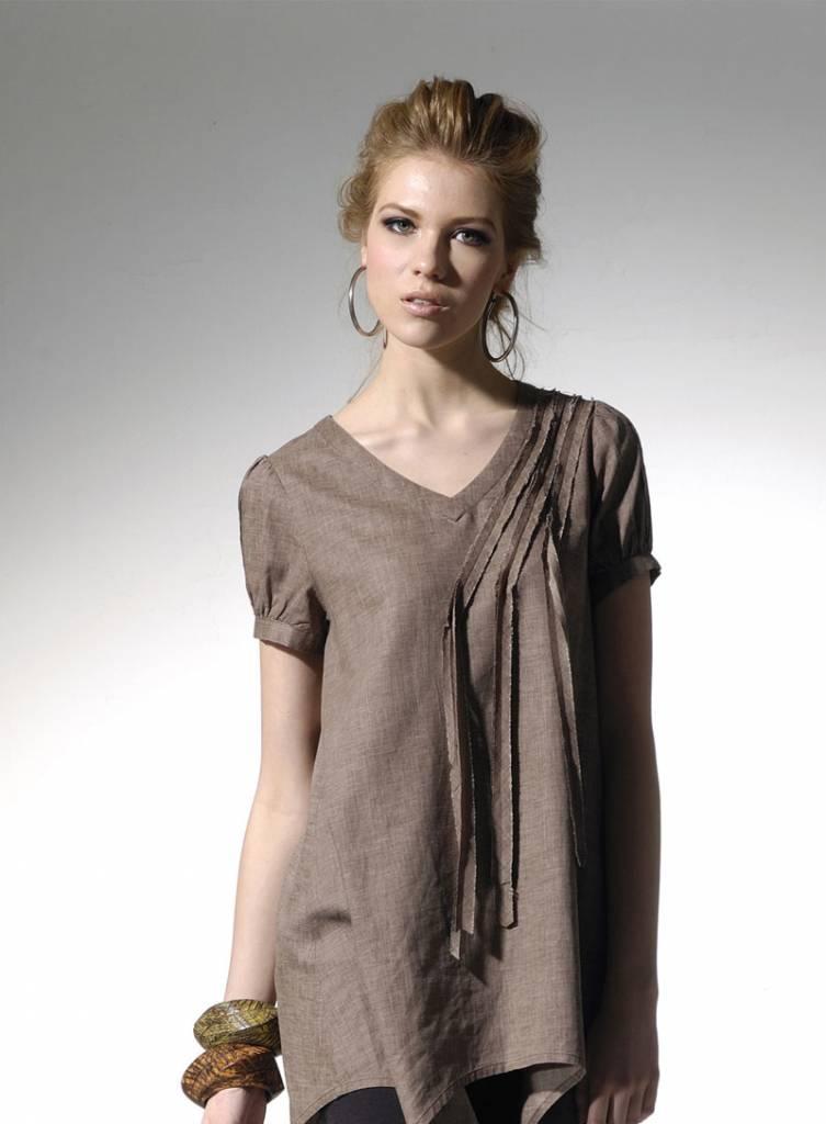 Sassy, loose fit dual tone dress