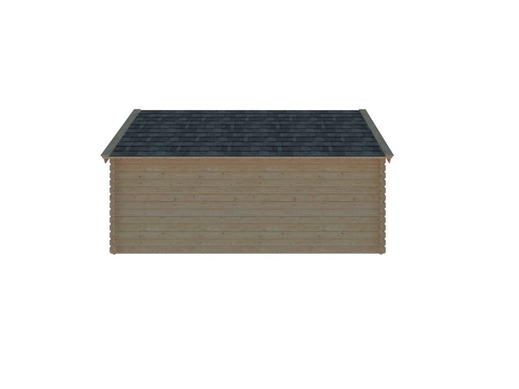 DWF Houten overkapping Kapschuur dak 500 x 250cm