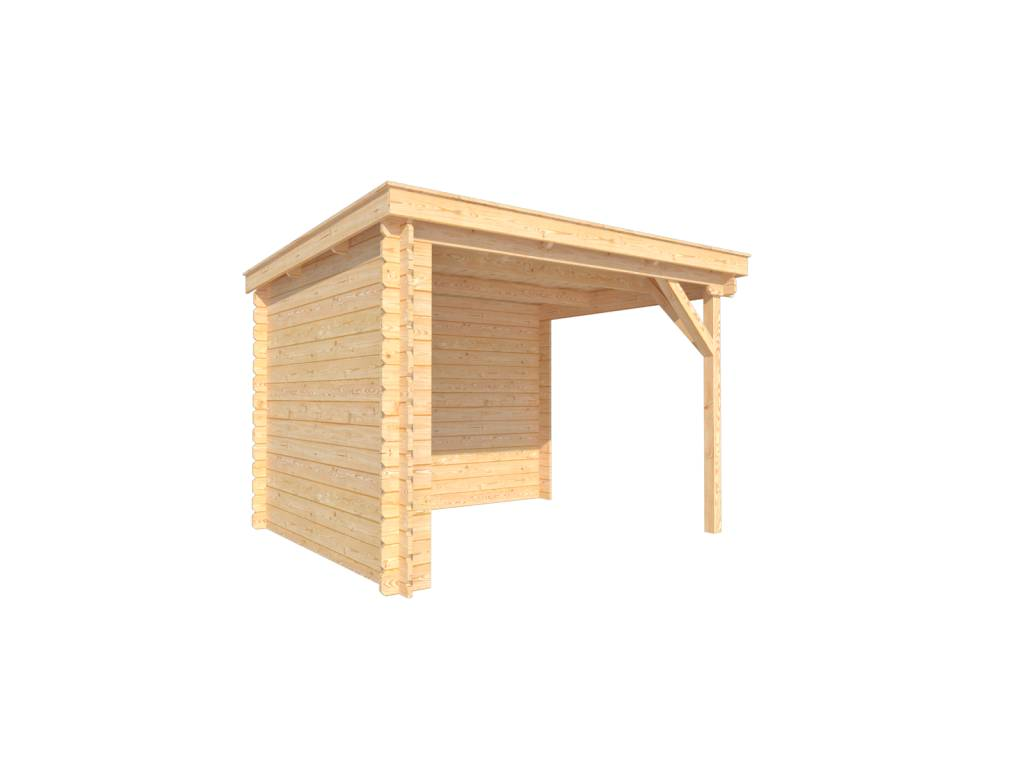 DWF Houten overkapping lessenaars dak 300 x 250cm