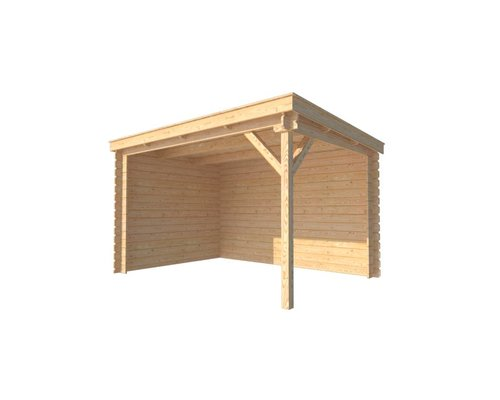 DWF Houten overkapping lessenaars dak 350 x 250cm