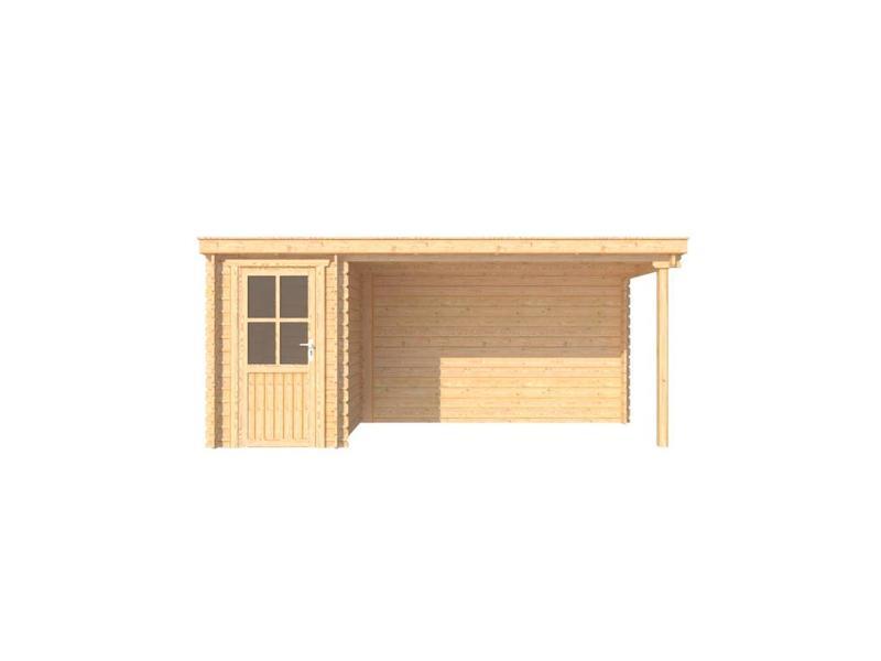 ... met overkapping lessenaar dak 150 x 200 + 350cm - Blokhuttenoutlet.nl