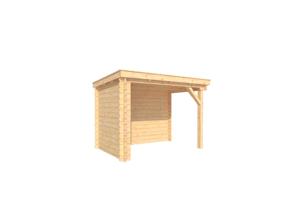 DWF Houten overkapping lessenaars dak 300 x 200cm
