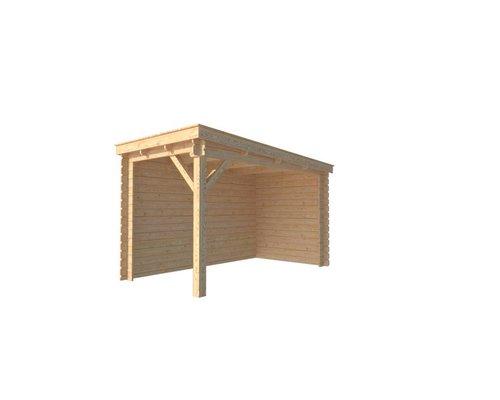 DWF Houten overkapping lessenaars dak 200 x 350cm