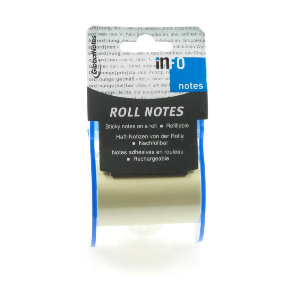 GlobalNotes Roll Notes - Notizzettel auf Rolle - 60 mm breit - Gelb (10m)