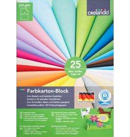 Crelando Farbkarton-Block 25 Blatt